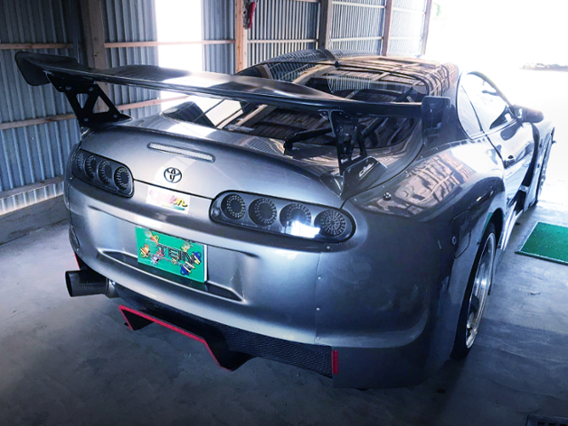 REAR EXTERIOR OF JZA80 SUPRA GT300 WIDEBODY.