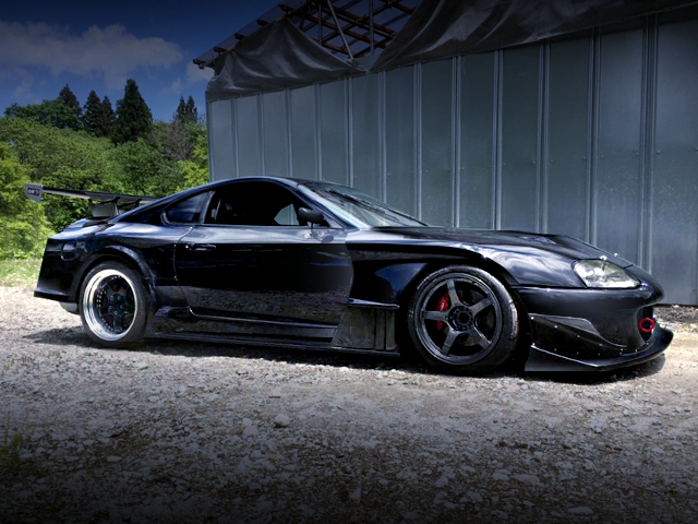 RIGHT-SIDE EXTERIOR OF JZA80 SUPRA RZ WIDEBODY.