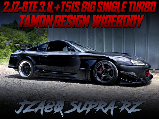 2JZ 3100cc T51S SINGLE TURBO AND TAMON WIDEBODY BUILT TO JZA80 SUPRA RZ.