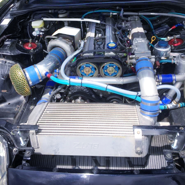 V-MOUNT INTER COOLER AND T51S SINGLE TURBO ON 2JZ-GTE 3100cc.