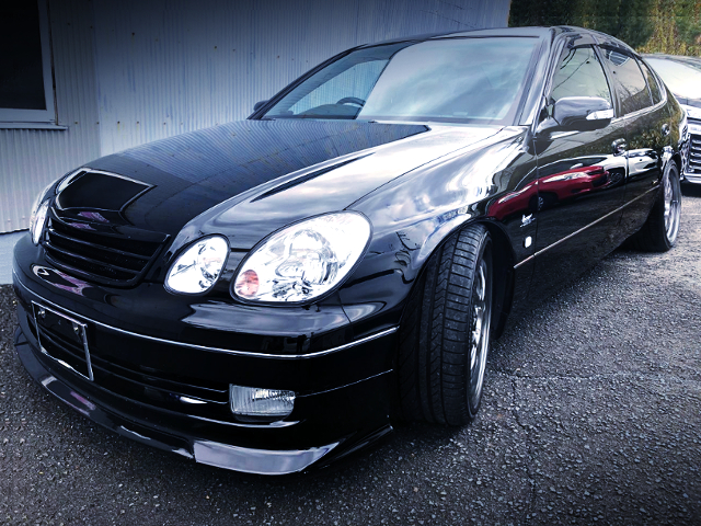 FRONT EXTERIOR OF JZS161 ARISTO TO BLACK COLOR.