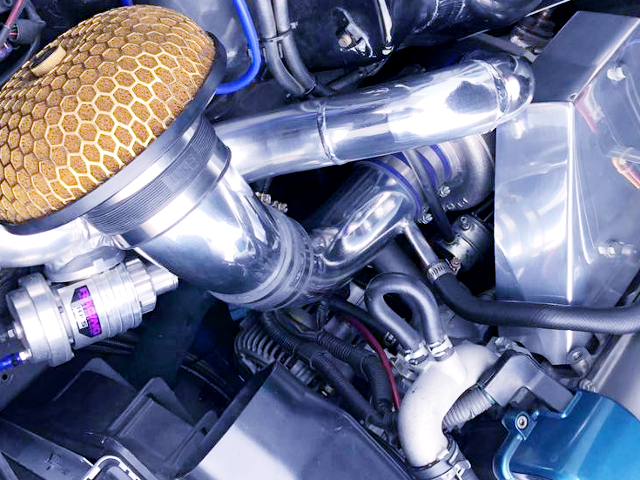 KANSAI SERVICE TURBO KIT INSTALLED 2JZ-GTE ENGINE.
