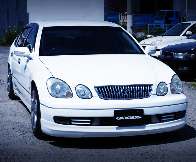 FRONT EXTERIOR OF JZS161 ARISTO V300 VERTEX EDITION.