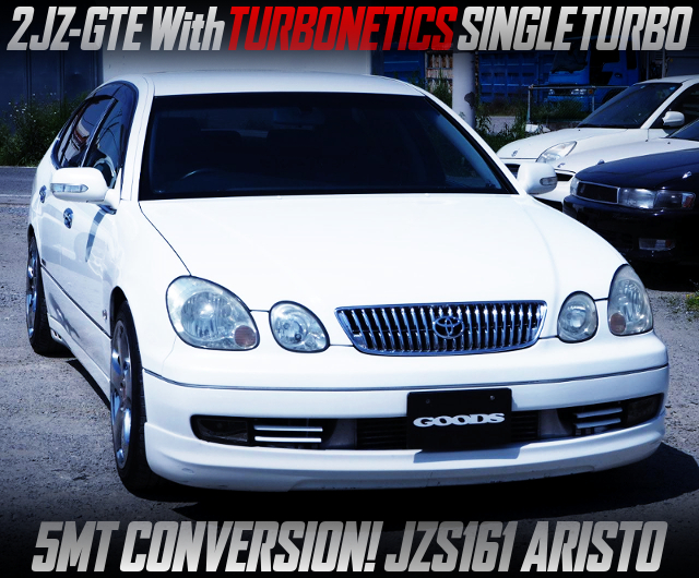 TURBONETICS SINGLE TURBO ON 2JZ-GTE With 5MT INTO JZS161 ARISTO V300 VERTEX EDITION.