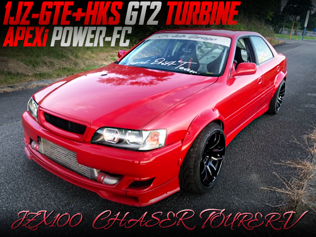 HKS GT2 TURBO AND POWER-FC INTO JZX100 CHASER TOURER-V DRIFT SPEC.