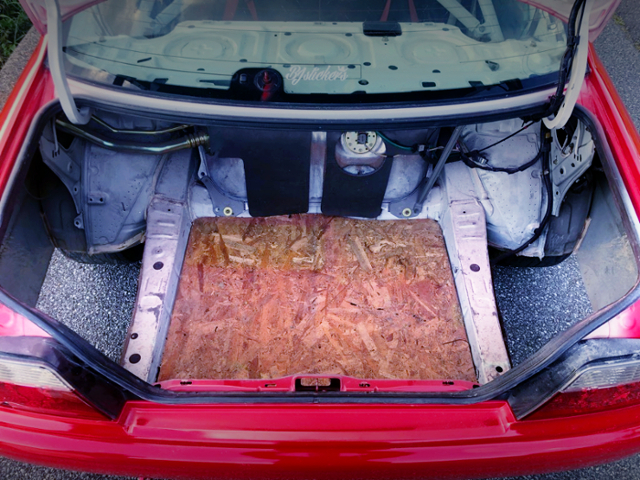 TRUNK FLOOR CUT OF JZX100 CHASER.