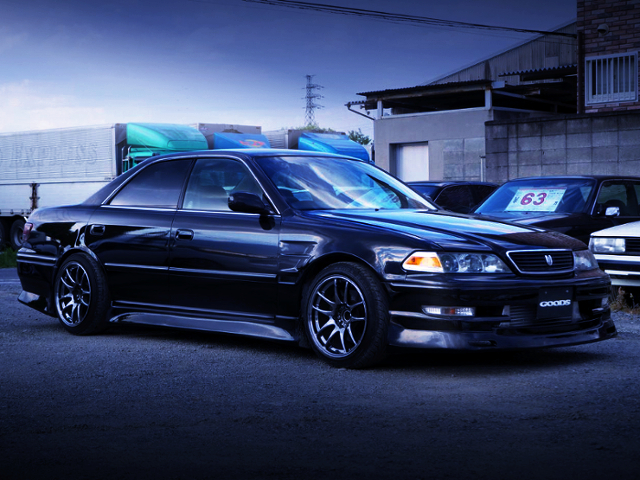 FRONT RIGHT-SIDE EXTERIOR OF JZX100 MARK2 TOURER-V.