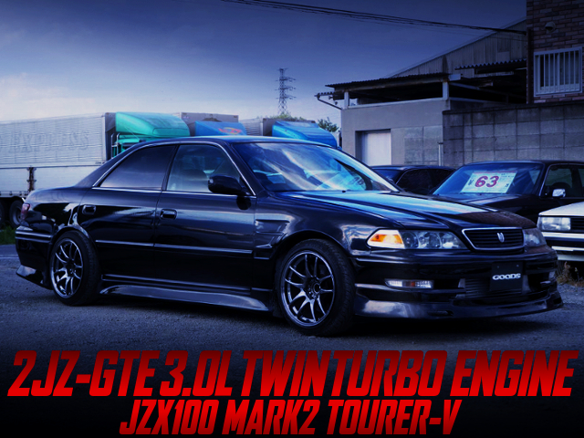 2JZ-GTE TWINTURBO SWAP AND 5MT OF JZX100 MARK2 TOURER-V TO BLACK PAINT.