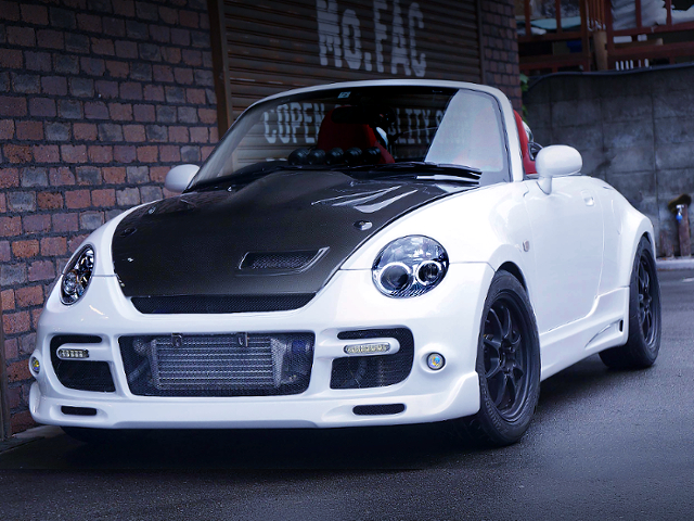 FRONT EXTERIOR OF L880K COPEN ACTIVE TOP WIDEBODY WHITE.