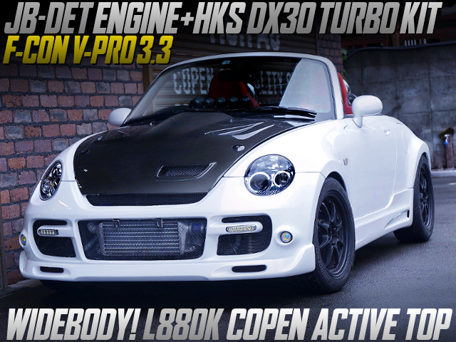 DX30 TURBO KIT AND F-CON V-PRO INTO L880K COPEN ACTIVE TOP WIDEBODY.