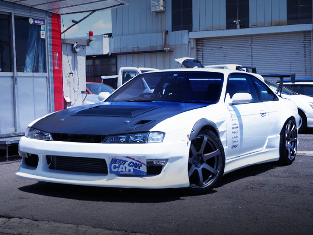 FRONT EXTERIOR OF S14 SILVIA K's WHITE.