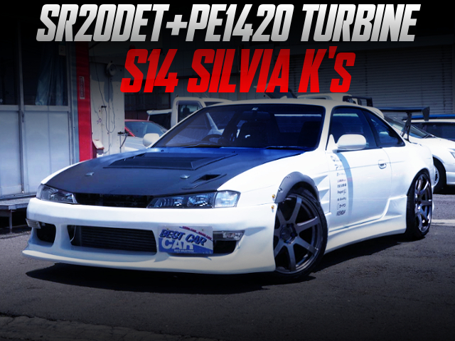 SR20DET With PE1420 TURBINE INTO S14 SILVIA K's WIDEBODY.