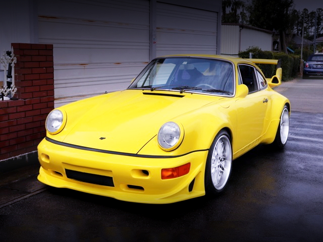 FRONT EXTERIOR OF 964 STYLE TO 930 TURBO YELLOW.