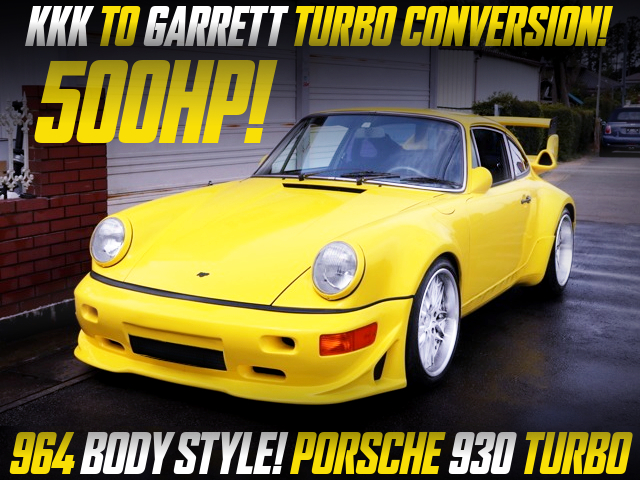 GARRETT TURBO UPGRADE TO PORSCHE 930 TURBO OF 500HP.