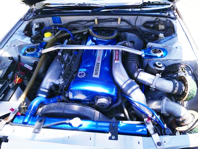 RB26 TWINTURBO ENGINE.