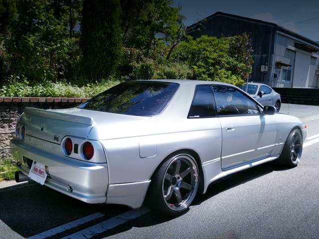 REAR EXTERIOR OF R32 GT-R V-SPEC.