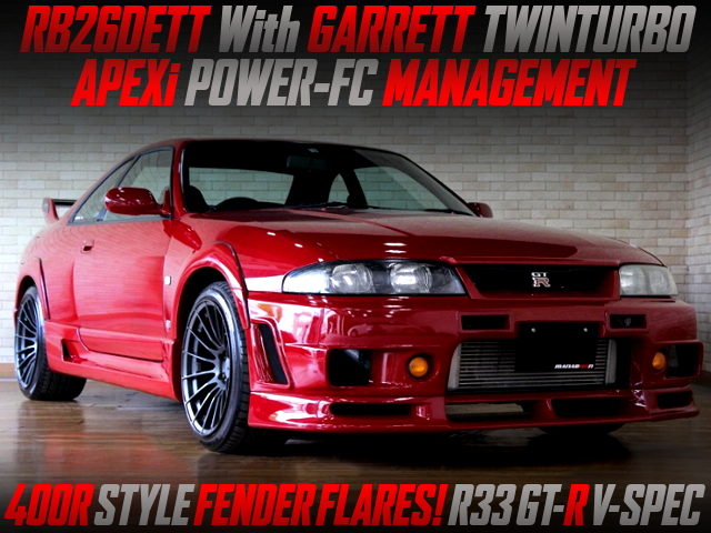 GARRETT TWIN TURBO And POWER-FC INTO R33 GT-R V-SPEC 400R-STYLE.