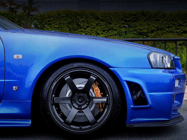 FRONT F50 Brembo CALIPER INSTALLED R34 GT-R V-SPEC2 Nur.