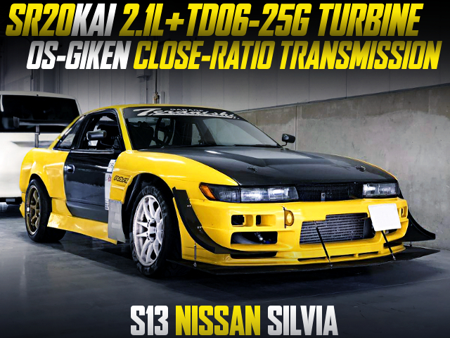 SR20 2100cc TD06-25G AND CLOSE RATIO GEARBOX INTO S13 SILVIA YELLOW.