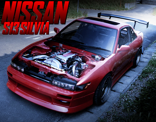 WIDEBODY And ENGINE ROOM CUSTOM TO S13 SILVIA.