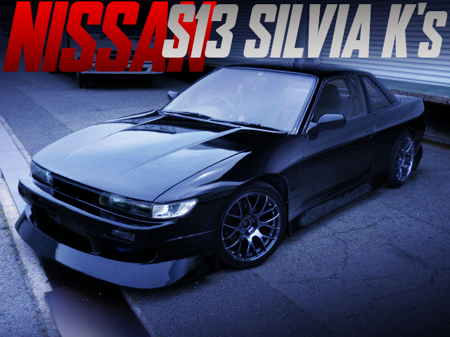 WIDEBODY AND S14 TURBINE OF S13 SILVIA K's BLACK.