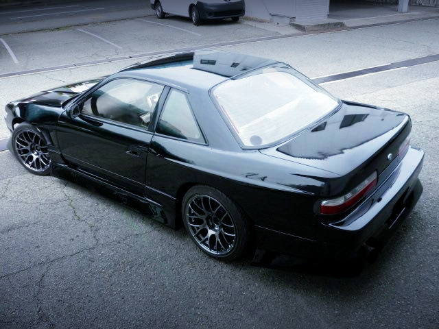 REAR-SIDE EXTERIOR OF S13 SILVIA WIDEBODY.