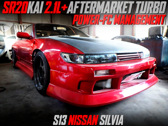SR20 2100cc with AFTERMARKET TURBO INTO S13 SILVIA WIDEBODY.