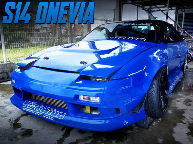 180SX FRONT END CONVERSION S14 SILVIA BLUE PAINT.