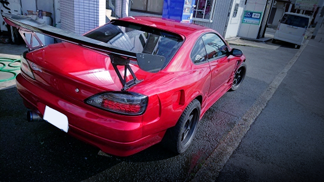 REAR EXTERIOR OF S15 SILVIA SPEC-R.