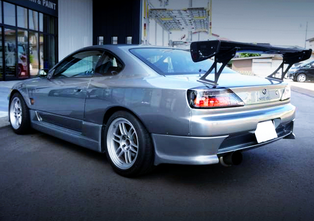 REAR EXTERIOR OF S15 SILVIA SPEC-R WIDEBODY.