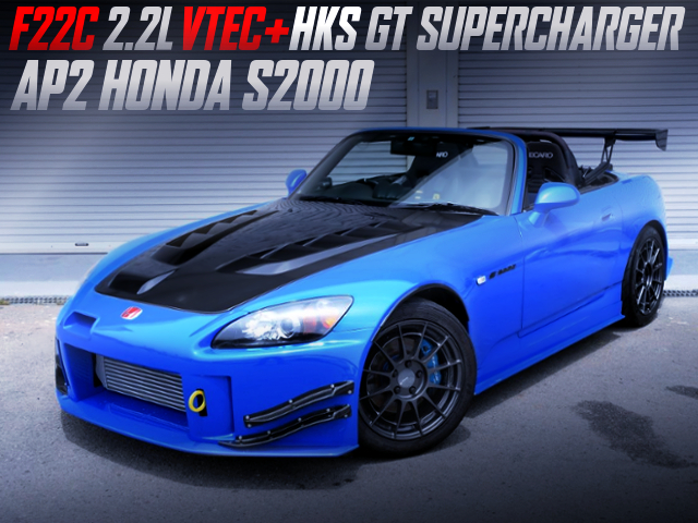 F22C with HKS GT SUPERCHARGER INTO AP2 S2000.