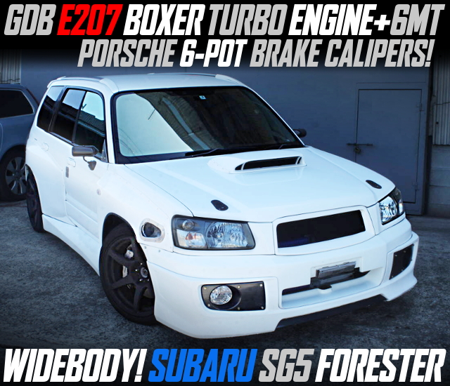 GDB E207 BOXER TURBO AND 6MT INTO SG5 FORESTER WIDEBODY.