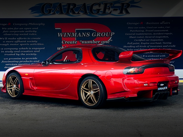REAR EXTERIOR oF SOUL RED CRYSTAL METALLIC FD3S RX-7 TYPE-RZ.