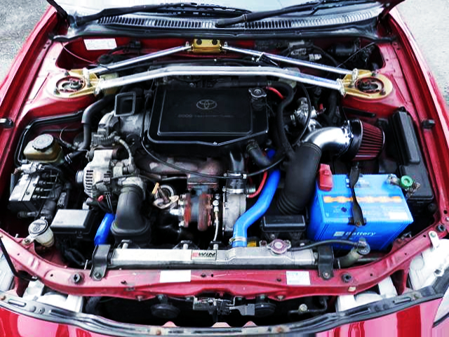 3S-GTE ENGINE With AFTERMARKET TURBO.