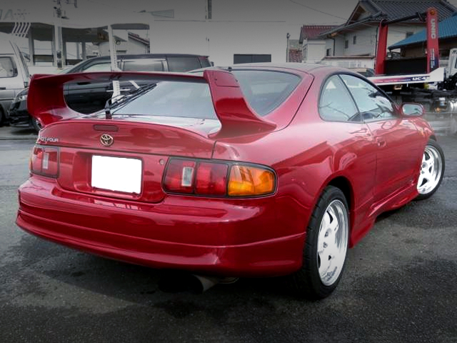 REAR EXTERIOR OF ST205 CELICA GT-FOUR.