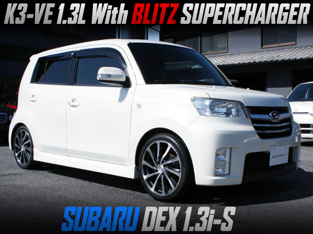 K3-VE 1.3L With BLITZ SUPERCHARGER INTO SUBARU DEX TALL WAGON.