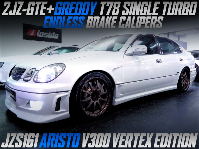 GREDDY T78 SINGLE TURBO ON 2JZ-GTE With JZS161 ARISTO V300 VERTEX EDITION.