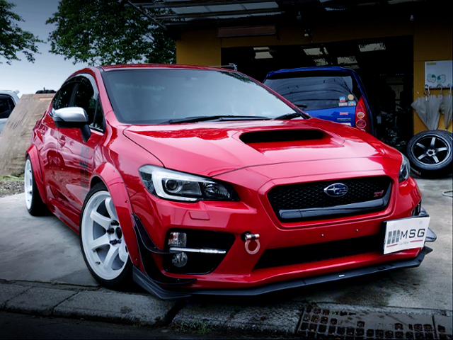 FRONT EXTERIOR OF VAB WRX STI WIDEBODY.