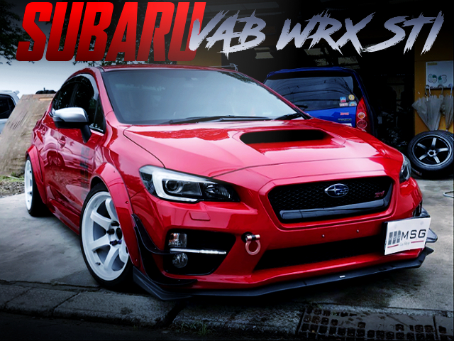 WIDE ARCHES INSTALLED VAB WRX STI RED.