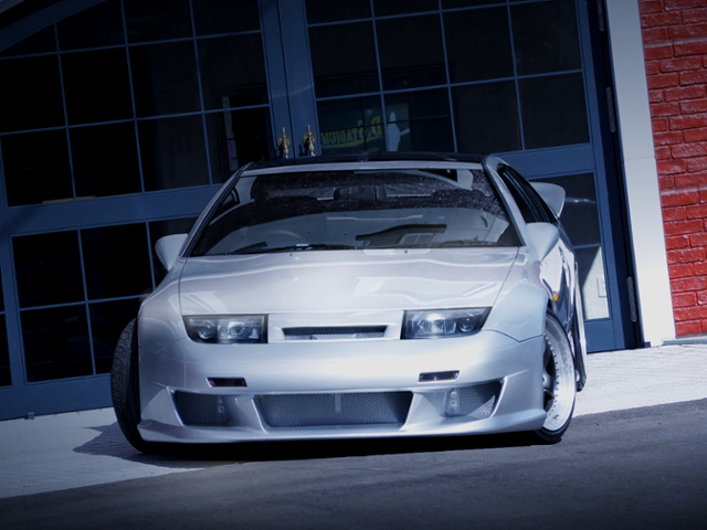FRONT FACE OF Z32 FAIRLADY Z 300ZX TWINTURBO TO SILVER.