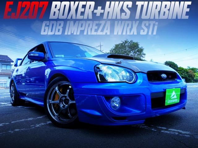 EJ207 With HKS TURBO INTO GDB BLOBEYE IMPREZA WRX STI.