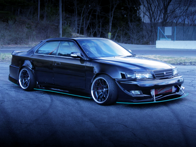 FRONT EXTERIOR OF JZX100 CHASER TOURER-V WIDEBODY.