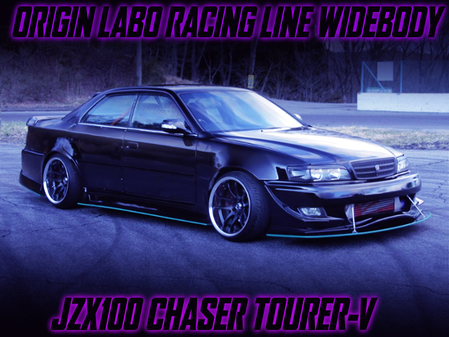 ORIGIN LABO RACING LINE WIDEBODY BUILT TO JZX100 CHASER TOURER-V BLACK.