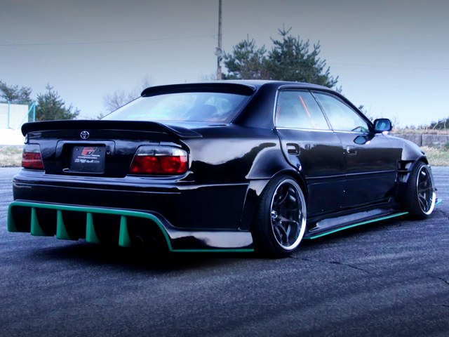 REAR EXTERIOR OF JZX100 CHASER TOURER-V WIDEBODY.