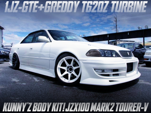 1JZ-GTE With T620Z TURBINE INTO JZX100 MARK2 TOURER-V WHITE.