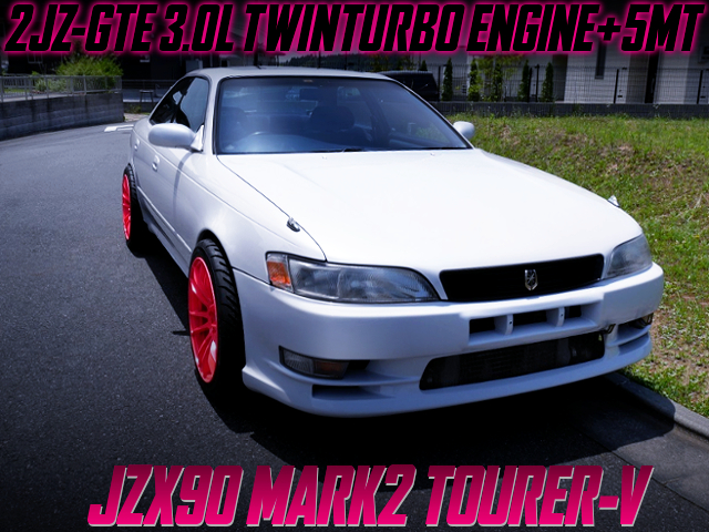2JZ-GTE TWINTURBO SWAP AND 5MT INTO JZX90 MARK2 TOURER-V PEARL WHITE