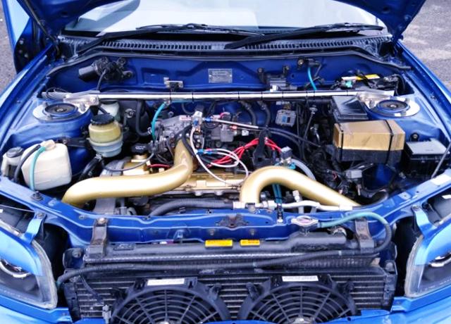 3S-GTE TURBO ENGINE SWAP TO 1ST Gen TOYOTA RAV4 ENGINE ROOM.