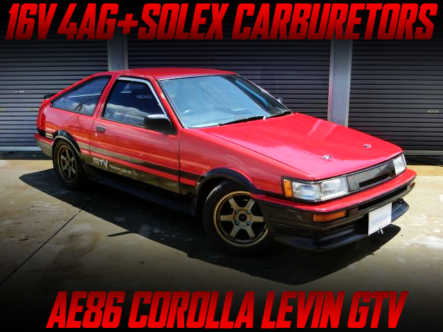 SOLEX CARBS ON 4AG INTO AE86 LEVIN TO RED/BLACK COLOR.