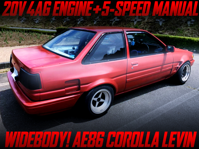 20V 4AG AND 5MT BLUIT INTO AE86 COROLLA LEVIN 2-DOOR GT RED.