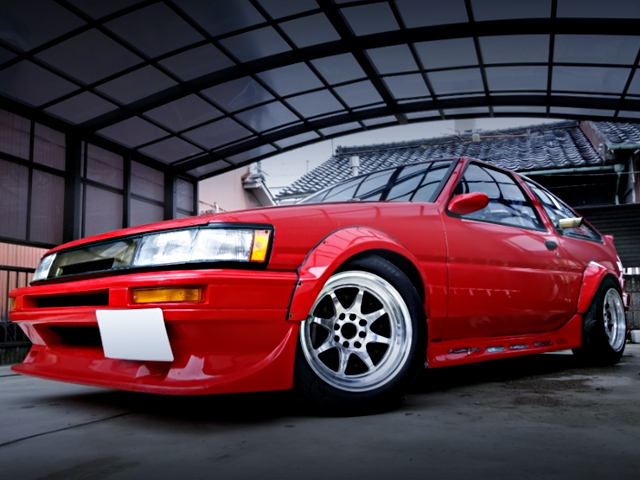 FRONT EXTERIOR OF RESTOMOD AE86 LEVIN GTV.